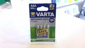 Varta AAA Micro Wiederaufladbare Akku Batterie